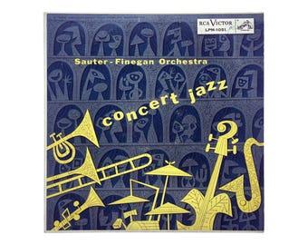 "Jim Flora record album design, 1955. Sauter-Finegan Orchestra ""Concert Jazz"" LP for RCS Victor LPM-1051"