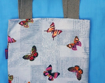 For butterfly lovers - butterfly themed Bag-in-a-bag - handy bag in its own pouch
