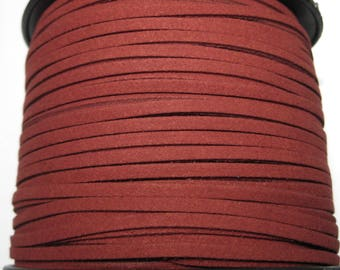 15ft Dark Red Faux Suede Cord 3mm ( No.43)