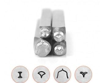 Mandala stamp pack, decorative metal stamps, impressart stamps, border metal stamps, Mandala stamps, 4 pack metal stamps, jewelry diy stamps