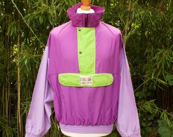 Retro Half Zip Bat Winged jacket  Size - Medium/Large