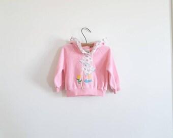 Vintage Pink Velour Hoodie
