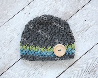 Baby boy hat, newborn boy hat, newborn photo prop, baby boy outfit, baby boy hats, coming home outfit, baby boy, newborn boy, crochet hat