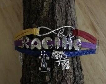 Racing Charm Bracelet