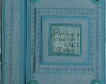 Memories 6x6 stitched card