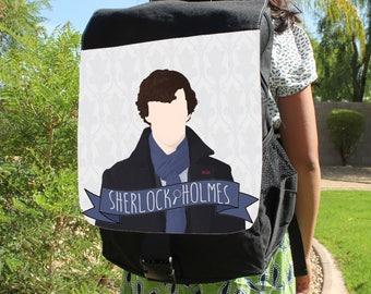 Minimalist Sherlock Holmes Canvas Backpack Bag