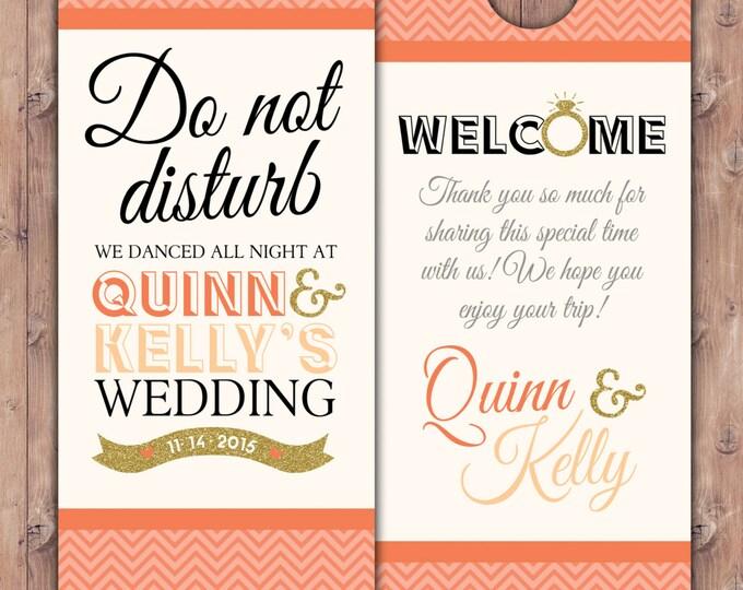 Personalized Door Hanger / Wedding Door Hanger / Bachelorette Party Door Hanger / Party Door Hanger/ destination wedding