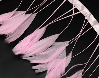 10cm of colorful feather Rose Q040 - creating jewelry-