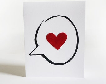 Valentine's Day Card - Love Card - Anniversary Card - Congratulations Card - Heart - Velvet - Blank Card - Engagement Card