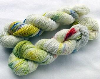 Handdyed SockYarn, 75 Wool, 25 Polyamid 100g 3.5 oz. Nr. 180
