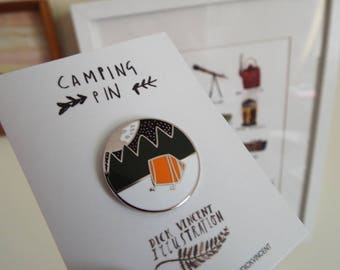 Camping Under the Stars Luxury Pin