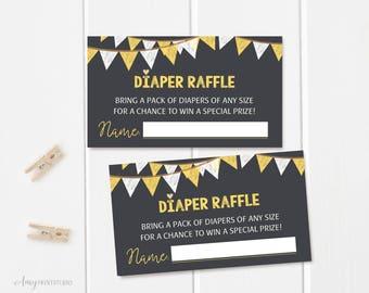 Diaper Raffle Tickets, Diaper Raffle Sign, Gray Baby Shower Diaper Raffle Tickets , Diaper Raffle Cards, Digital file, #A23