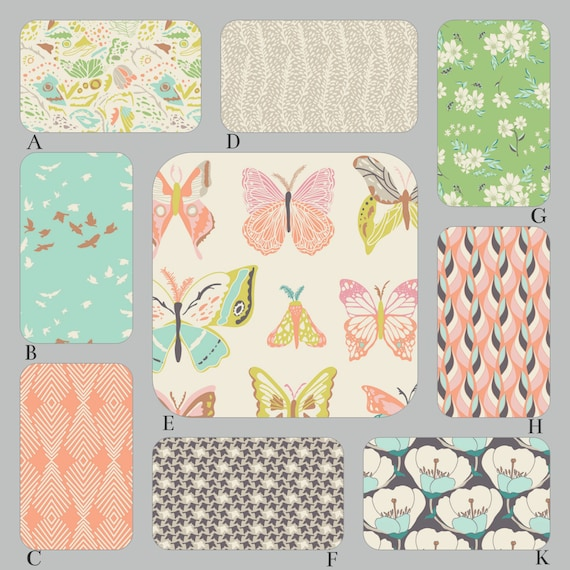 Peach And Aqua Bedroom: Peach Aqua And Mint Baby Crib Bedding The Winged Collection