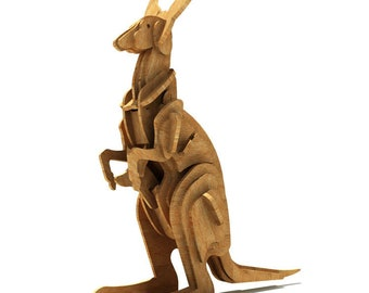 The Australian Kangaroo 3D wooden puzzle/model