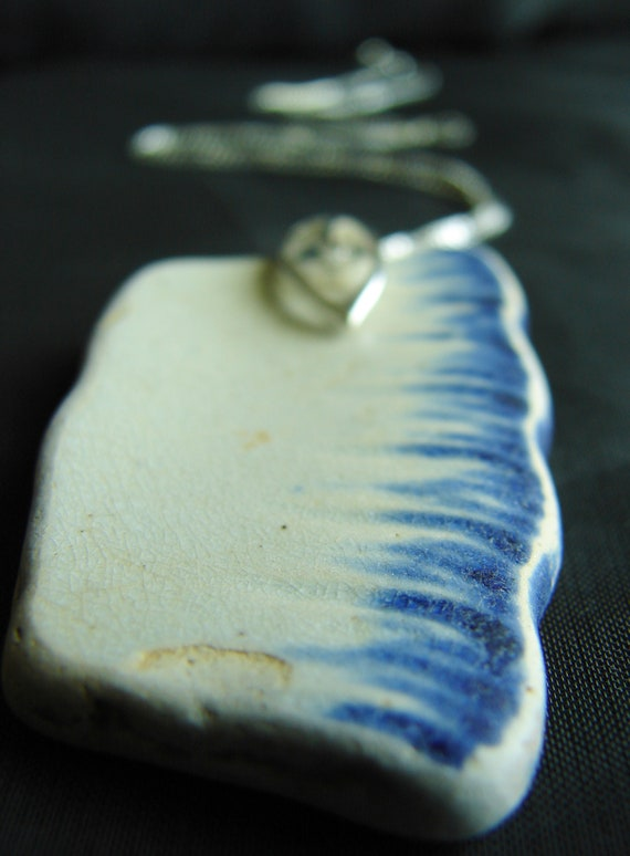 Wispy Sky sea pottery necklace