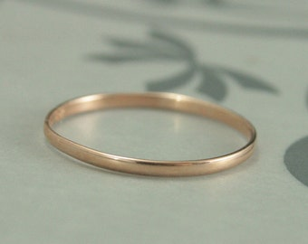 Rose Gold Wedding Band~Women's Wedding Band~Rings for Women~Skinny Minnie 1.5mm by .75mm~Women's Rose Gold Ring~10K Rose Gold Band~Thin Ring