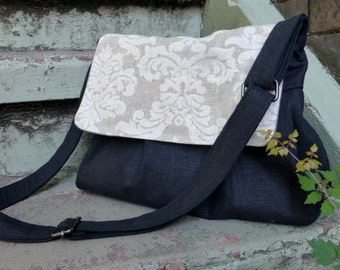 Zippered top MEDIUM Camera Bag Purse Custom Flap  Adjustable Strap Hard Bottom Padded THREE Pockets