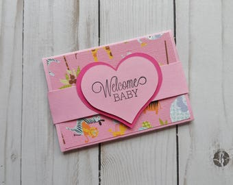 Baby Girl Gift Card Holder -- Baby Gift Card Holder -- Gift Card Holder for Baby Girl