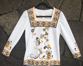 1960's Pucci Style Floral Top