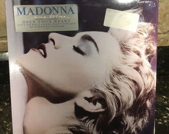 "Madonna ""True Blue"" Vinyl Record LP - VG+ Condition - Free Shipping!"