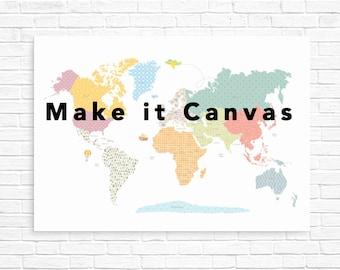 Nursery canvas art, kids world map canvas, canvas art for kids, wall art canvas, nursery decor, nursery wall art, nursery canvas art,