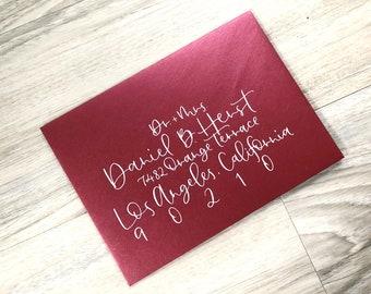 Wedding Envelope Calligraphy // Modern Calligraphy // Romantic Whimsy Style