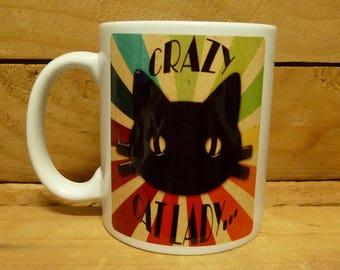 300ml Coffee Mug - CRAZY CAT LADY