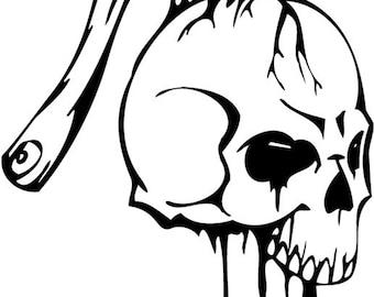 Hatchet in Skull