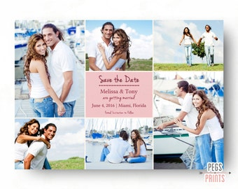 Photo Save the Date - Save the Date Photo Card - Save the Date Photo Collage (Printable) Save the Date Cards - Picture Save the Date