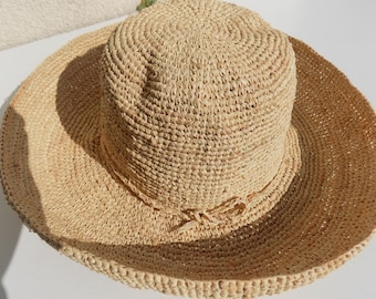 woman hat, Cape, 56 cm to 63 cm Hat raffia straw hat, floppy hat, Sun Hat, beach hat, made hand/straw hat