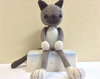 CAT Crochet, Amigurumi Cat, Australian Gift, Kids' Valentine Gift, Gift for Children, Baby Shower Gift, Baby Photo Prop, Nursery Decor, Ing