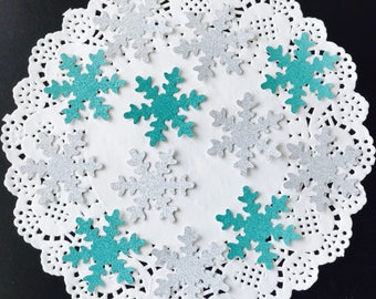 50pcs glitter snowflake table confetti handcrafted wedding Frozen party Christmas decoration 4.7cm/1.85in