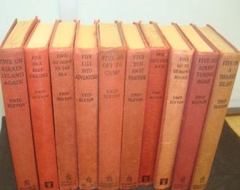 Set of 10 Famous Five Reprints.