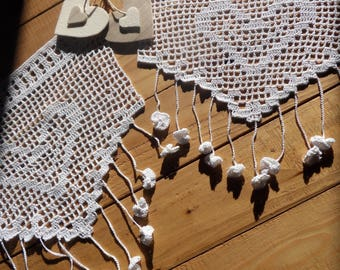 Belle-Ile curtains cotton crochet handmade