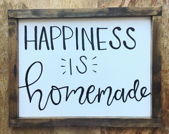 Happiness is Homemade Hand Lettered Signs