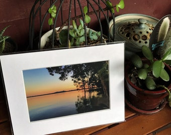 Boreen Point Sunset.  Mounted photo. Unframed photo.