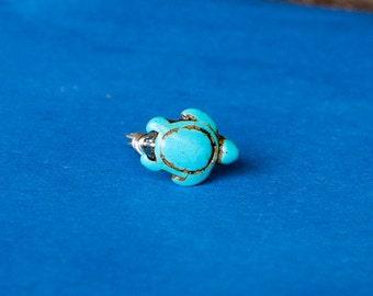 Blue Sea Turtle Ring/ sea turtle jewelry/ bridesmaid jewelry/ dainty ring/ hawaii turtle