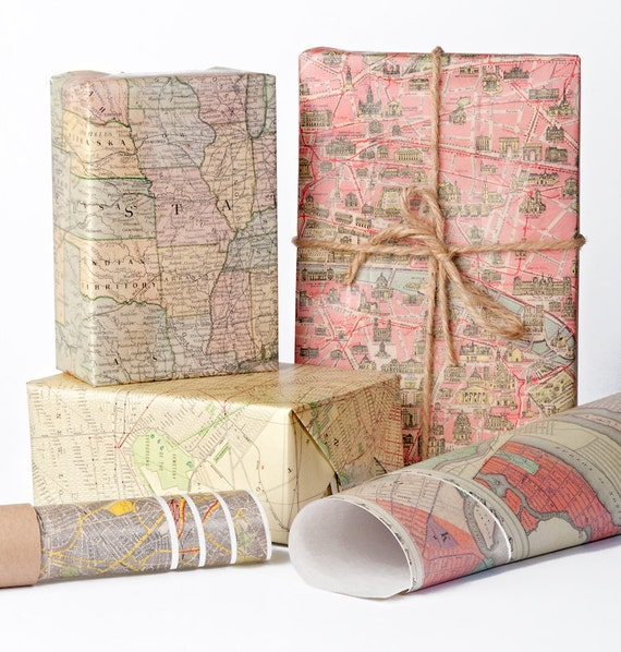 Historic maps wrapping paper 12 sheets gumiabroncs Gallery