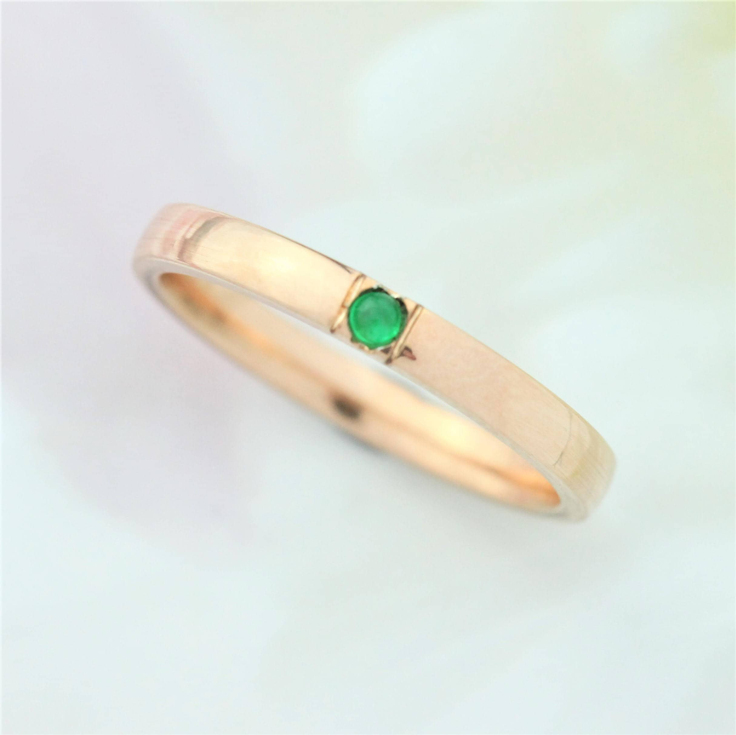 double emerald shank ring wedding diamond pin halo cut engagement split