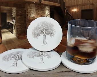 Tree of Life Drink Coasters, Absorbent, set of 4
