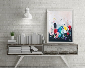 Large canvas art, abstract painting, large abstract painting, contemporary art, acrylic painting, large wall art, canvas painting 28 x 21 in