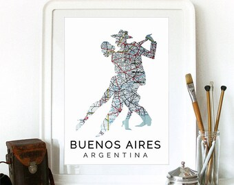 Buenos Aires Print, Buenos Aires Skyline, Buenos Aires Art, Buenos Aires Poster, Buenos Aires Watercolor, Buenos Aires Art Print, Argentina