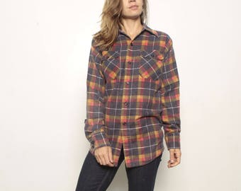 90s nirvana GRUNGE plaid FLANNEL oversized shirt