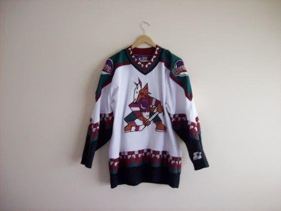 vintage Phoenix Coyotes jersey, 90 s Phoenix coyotes, 90 s NHL jerseys, Western Conference, Shane Doan
