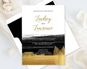 Wedding Invitations - Glamorous Evening (Style 13782)