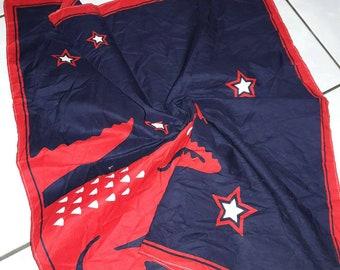 Vintage Lacoste Big Logo Handkerchief Handtowel pocketsquare