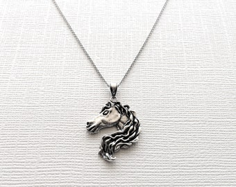 Majestic Horse Necklace in Sterling Silver. Horse Jewelry