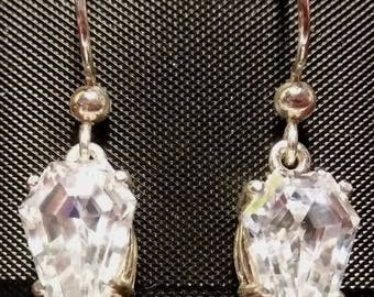 Coffin Gem - 5ct pair - DANGLE Coffin Earrings