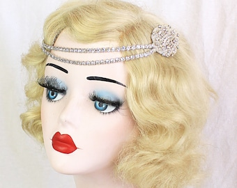 Elegant Swarovski Crystal Headpiece for Girls or Women, Gilded Age, Great Gatsby Hair Accessory,  Bridal Hair Accessory, Flower Girl