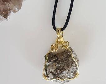 Pyrite Spiral Necklace
